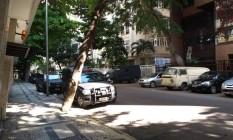 Rua Gustavo Sampaio, no Leme Foto: Aline Macedo / O Globo