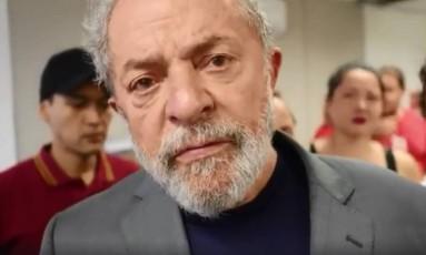 Mensagem de Lula foi divulgada neste domingo Foto: Reprodução