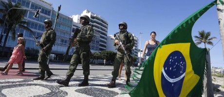 Fuzileiros na Praia do Leblon Foto: Fábio Guimarães / Agência O Globo