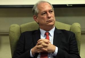 Ciro Gomes, pré-candidato do PDT Foto: Edilson Dantas / Agência O Globo