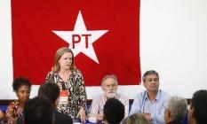 A presidente do PT, Gleisi Hoffmann Foto: Pablo Jacobo/Agência O Globo