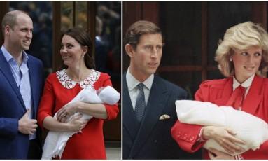 Kate Middleton e o príncipe William deixam a maternidade com o novo bebê Foto: AP