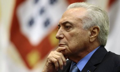 O presidente Michel Temer participa de cerimônia de formatura do Instituto Rio Branco Foto: Jorge William / Agência O Globo
