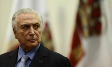 Presidente Michel Temer participa de cerimônia de formatura do Instituto Rio Branco Foto: Jorge William / Agência O Globo