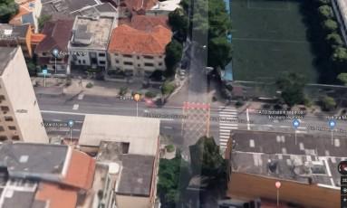 Vítima foi abordada próximo à esquina da Rua Álvares de Azevedo com a Avenida Roberto Silveira Foto: Reprodução/Google Maps