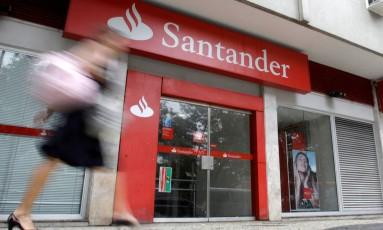 Agência do Santander no Rio de Janeiro. Foto: Sergio Moraes/Reuters/07-10-2009