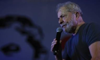 O ex-presidente Lula participa da comemoração do aniversário do PT Foto: Edilson Dantas/Agência O Globo/22-02-2018