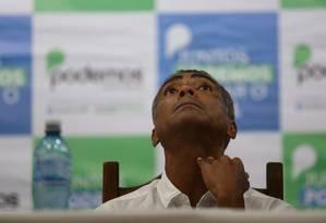 Romário lança sua pré-candidatura ao governo do Rio de Janeiro Foto: Guilherme Pinto/Agência O Globo/17-03-2018