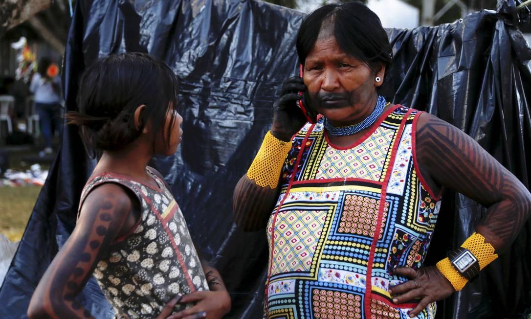O acampamento Terra Livre é realizado a cada ano desde 2003 Foto: Michel Filho / Agência O Globo