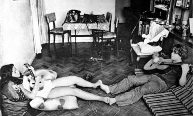 Raphael Rabello com sua irmã, Luciana Foto: Divulgação