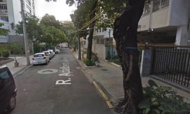Assalto ocorreu na noite desta terça-feira, em rua da Tijuca Foto: Reprodução/Google Maps