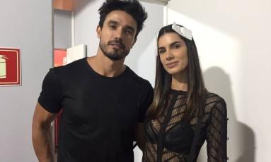 Os modelos Lucas Gil e Taty Betin: casal é sensação na SPFW Foto: Gilberto Júnior