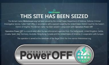 """Operação """"Power Off"""" derrubou site acusado de ciberataques Foto: Reprodução/webstresser.org"""