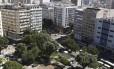 Espaço público. A Praça Saens Peña vista do alto: projetos têm em comum o tom visionário Foto: Pedro Teixeira / Agência O Globo