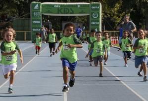 Para crianças. Prova passa a integrar a Maratona do Rio este ano Foto: divulgação/spiridon eventos