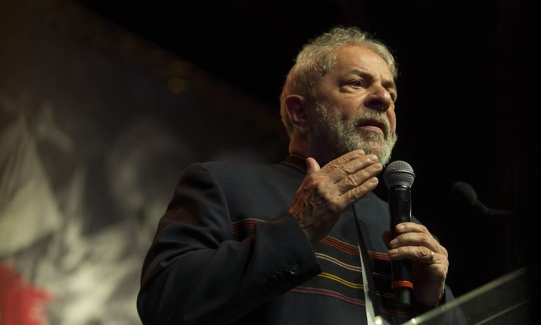 O ex-presidente Luiz Inácio Lula da Silva Foto: Guito Moreto / Agência O Globo / 16-1-18