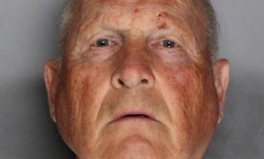 Joseph James Deangelo é acusado por ter cometido 12 homicídios, 45 estupros e 120 roubos a residência Foto: Sacramento County Sheriff's Department / Reuters