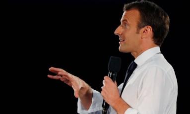 O presidente da França, Emmanuel Macron, durante visita oficial aos Estados Unidos Foto: BRIAN SNYDER / REUTERS