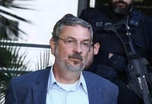 O ex-ministro Antonio Palocci depôs na CPI do BNDES na Câmara Foto: Geraldo Bubniak