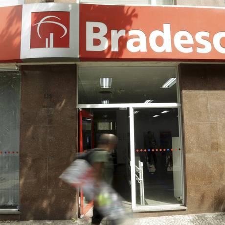 Agência do Bradesco em Laranjeiras, no Rio. Foto de Gabriel de Paiva / Agência O globo