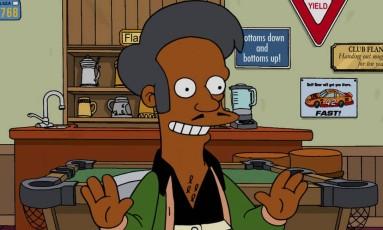 O personagem dse ascendência indiana Apu Foto: Reprodução