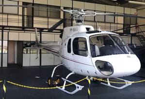 Polícia apreende helicóptero com vestígios de droga que seria utilizado por facção Foto: Divulgação/Polícia Civil