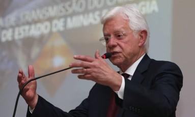 O ministro Moreira Franco, durante sua cerimônia de posse no Ministério de Minas e Energia Foto: Givaldo Barbosa/Agência O Globo/11-04-2018