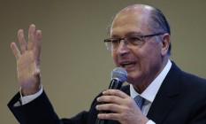 Geraldo Alckmin participa de encontro com vereadores em Brasília Foto: Jorge William/Agência O Globo/25-04-2018