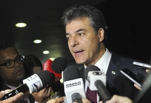 O governador do Paraná, Beto Richa, durante entrevista. Foto: Jane de Araújo/Agência Senado/20-05-2015