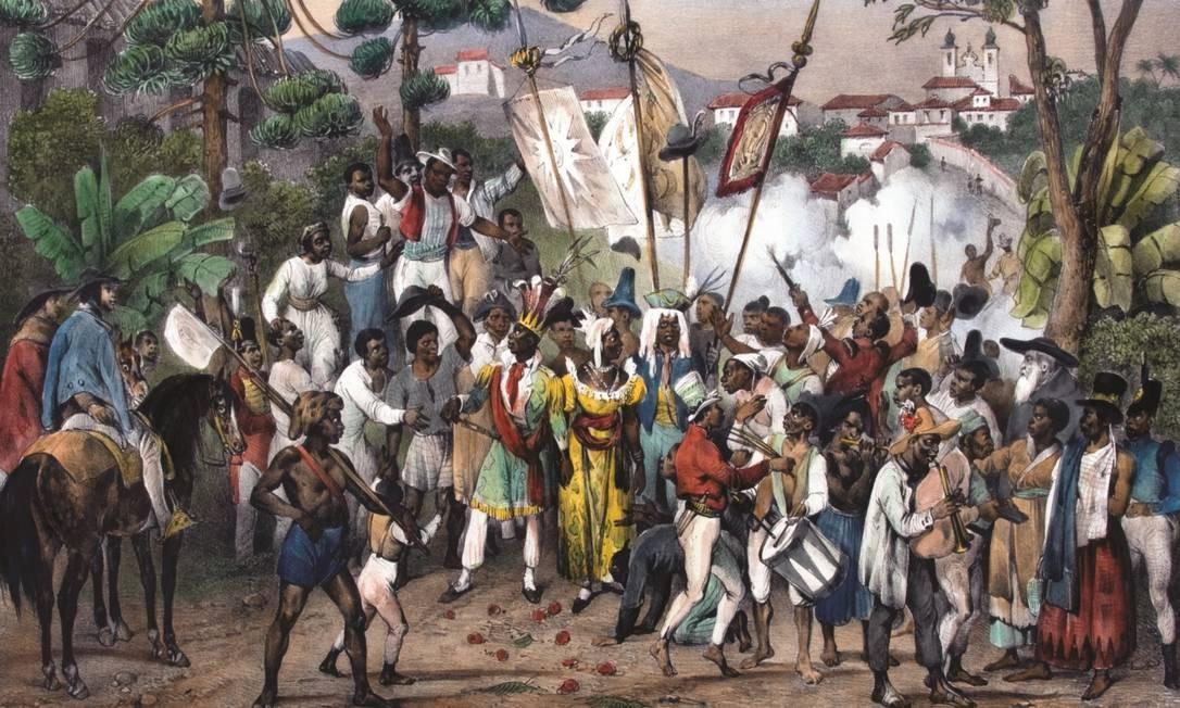'Fête de Ste. Rosalie, patrone des négres', gravura de 1835 de Johann Moritz Rugendas Foto: Divulgação