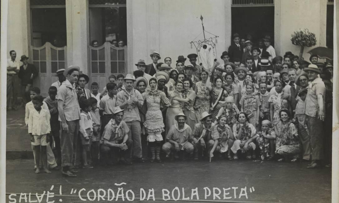 'Salve! Cordão da Bola Preta Penha 1936', de autor desconhecido Foto: Divulgação