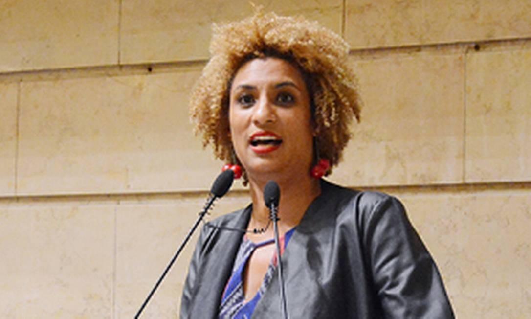 A vereadora Marielle Franco em discurso na Câmara Foto: Reprodução / Câmara dos Vereadores do Rio