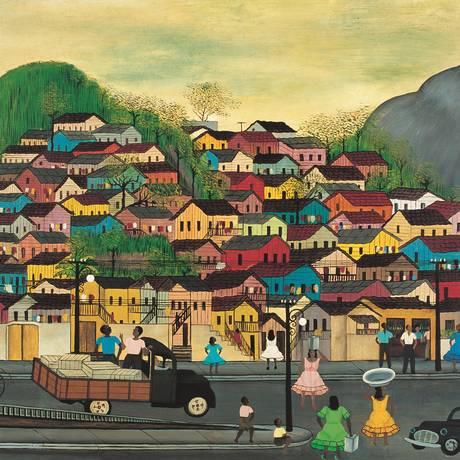 Morro da Mangueira (1965), de Heitor dos Prazeres Foto: Divulgação/Coleção Roberto Marinho