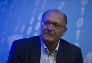 O ex-governador de São Paulo, Geraldo Alckmin, durante palestra na UGT Foto: Edilson Dantas / Agência O Globo