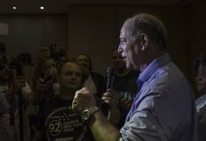 Ciro Gomes discursa em evento em São Paulo Foto: Edilson Dantas / Agência O Globo