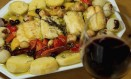 Bacalhau confitado com batata e Foto: Brenno Carvalho / fotos de Brenno CaRvalho