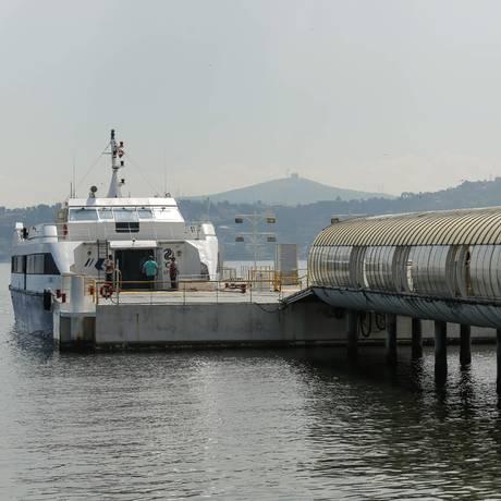 Estação de Charitas só opera com embarcações seletivas que custam R$ 16,90 por viagem Foto: Brenno Carvalho / Agência O Globo