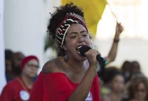 Marielle. Talíria diz que a morte da amiga foi uma convocação à ousadia Foto: Leo Martins / Leo Martins