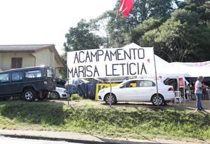 Acampamento foi atacado na madrugada deste sábado Foto: Geraldo Bubniak