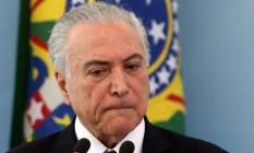 O presidente Michel Temer Foto: Givaldo Barbosa / Agência O Globo/27-4-18