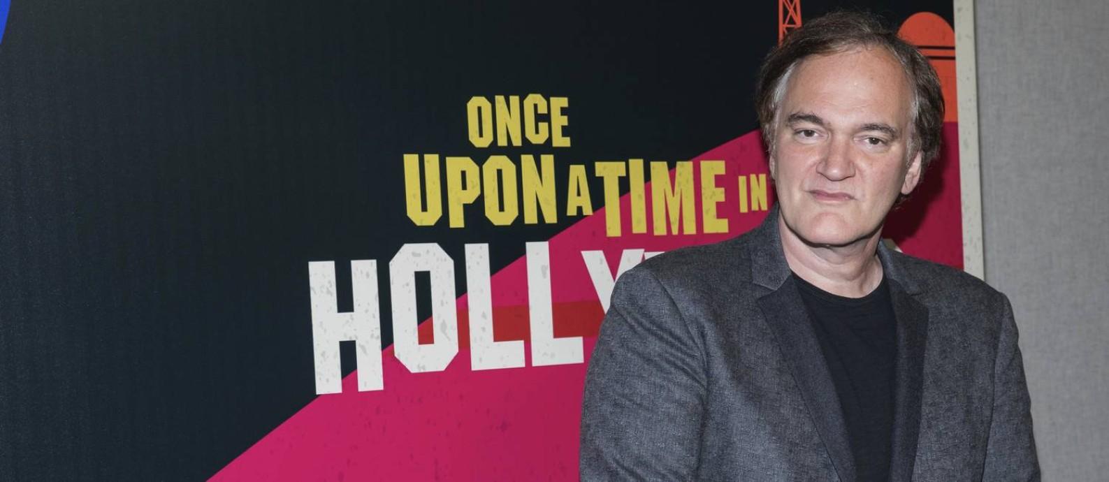 Quentin Tarantino no CinemaCon em Las Vegas Foto: Eric Jamison / Eric Jamison/Invision/AP