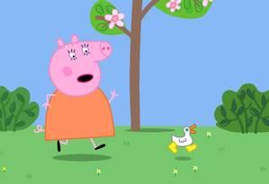 Peppa Pig é uma porquinha rosa Foto: Divulgação