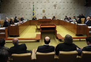 Supremo retoma hoje a votação do processo que visa restringir o foro privilegiado de deputados e senadores Foto: Ailton de Freitas / Agência O Globo
