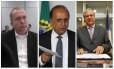 O governador Luiz Fernando Pezão entre seus delatores Carlos Miranda e Jonas Lopes de Carvalho