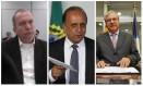 O governador Luiz Fernando Pezão entre seus delatores Carlos Miranda e Jonas Lopes de Carvalho Foto: Montagem/O GLOBO