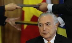 O presidente Michel Temer Foto: Jorge William / Agência O Globo 02/05/2017