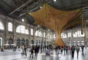 Projeto de Ernesto Neto para 'GaiaMotherTree', que será montada em Zurique em junho Foto: Reprodução