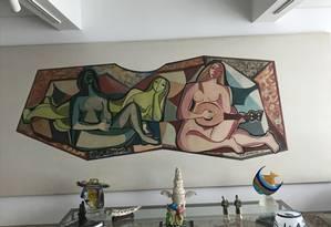 Painel de Di Cavalcanti na sala de Dario Foto: Reprodução