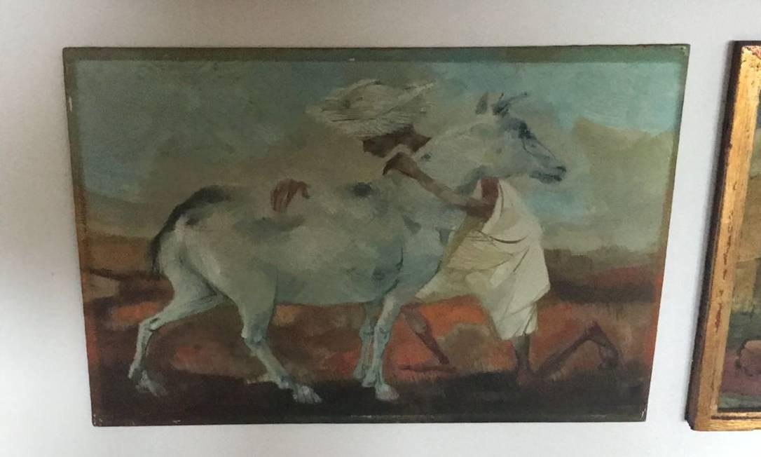 Quadro de Bianco na coleção de Dario Messer Foto: Reprodução