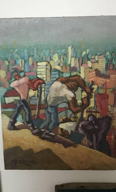 Quadro de Sigaud, com trabalhadores de construções na casa de Dario Messer Foto: Reprodução